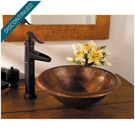 Tuscan Bronze Ashfield Vessel, Single Control Bath Faucet - T40-YP0Y - 4