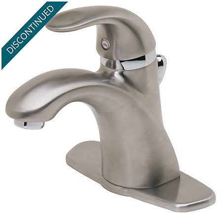 Brushed Nickel Parisa Single Control, Centerset Bath Faucet - T42-AMFK - 1