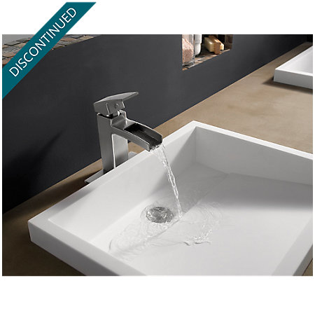 Brushed Nickel Kenzo Single Control, Centerset Bath Faucet - T42-DF0K - 3