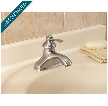 Brushed Nickel Portland Single Control, Centerset Bath Faucet - T42-PK00 - 2