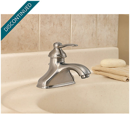 Brushed Nickel Portland Single Control, Centerset Bath Faucet - T42-PK00 - 3