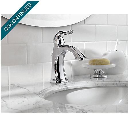 Polished Chrome Santiago Single Control, Centerset Bath Faucet - T42-ST0C - 3