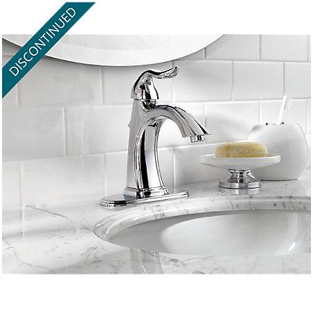 Polished Chrome Santiago Single Control, Centerset Bath Faucet - T42-ST0C - 4