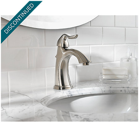 Brushed Nickel Santiago Single Control, Centerset Bath Faucet - T42-ST0K - 3