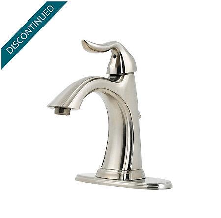 Brushed Nickel Santiago Single Control, Centerset Bath Faucet - T42-ST0K - 2