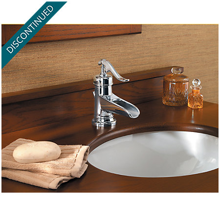 Polished Chrome Ashfield Single Control, Centerset Bath Faucet - T42-YP0C - 3