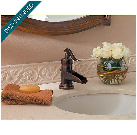 Rustic Bronze Ashfield Single Control, Centerset Bath Faucet - T42-YP0U - 3