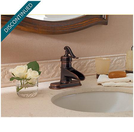 Rustic Bronze Ashfield Single Control, Centerset Bath Faucet - T42-YP0U - 4