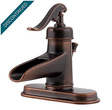 Rustic Bronze Ashfield Single Control, Centerset Bath Faucet - T42-YP0U - 2
