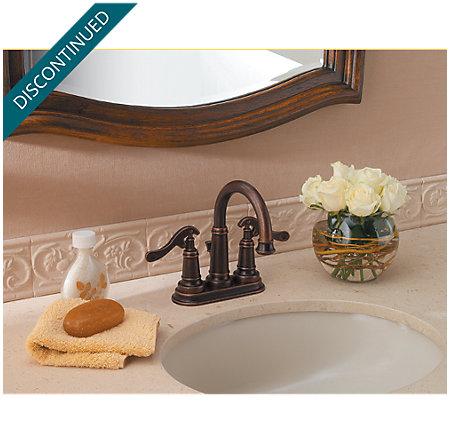 Rustic Bronze Ashfield Centerset Bath Faucet - T43-YP0U - 2