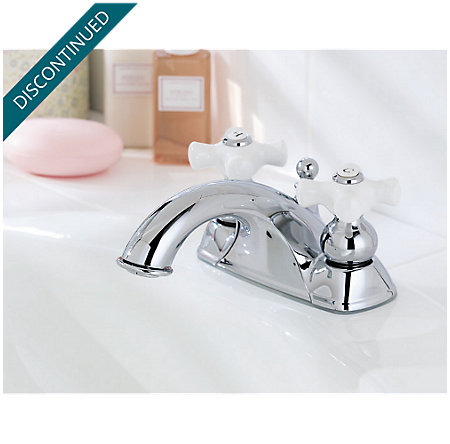 Polished Chrome Georgetown Centerset Bath Faucet - T45-B0XC - 2