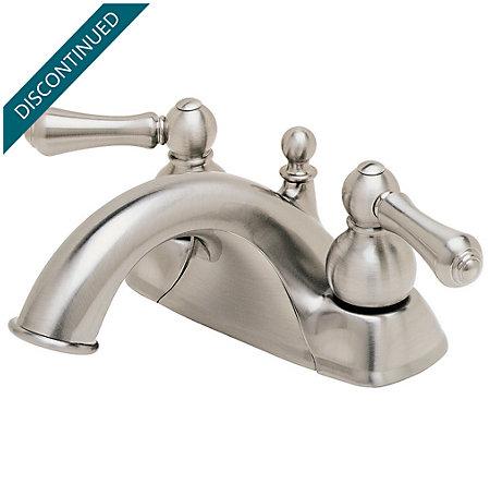 Brushed Nickel Georgetown Centerset Bath Faucet - T45-BKXK - 1