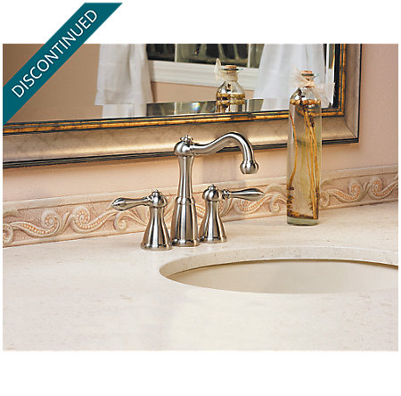Brushed Nickel Marielle Mini-Widespread Bath Faucet - T46-M0BK - 4