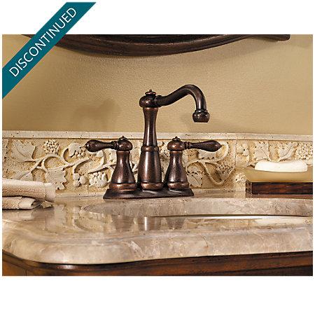 Rustic Bronze Marielle Mini-Widespread Bath Faucet - T46-M0BU - 3