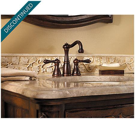 Rustic Bronze Marielle Mini-Widespread Bath Faucet - T46-M0BU - 4