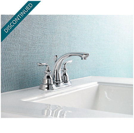 Polished Chrome Avalon Centerset Bath Faucet - T48-CB0C - 2