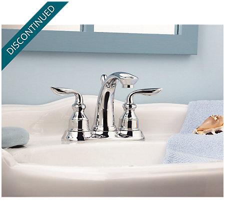 Polished Chrome Avalon Centerset Bath Faucet - T48-CB0C - 3