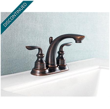 Rustic Bronze Avalon Centerset Bath Faucet - T48-CB0U - 2