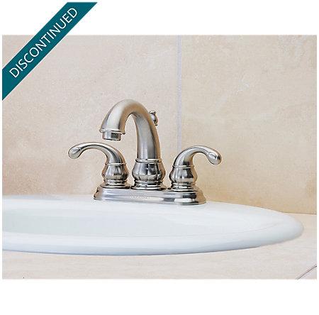 Brushed Nickel Treviso Centerset Bath Faucet - T48-DK00 - 2