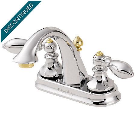 Polished Chrome / Polished Brass Catalina Centerset Bath Faucet - T48-E0BB - 1