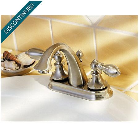 Brushed Nickel Catalina Centerset Bath Faucet - T48-E0BK - 4