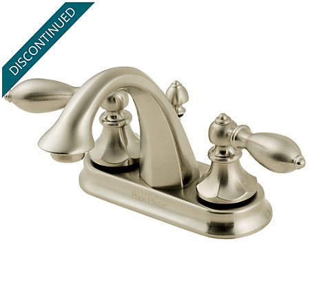 Brushed Nickel Catalina Centerset Bath Faucet - T48-E0BK - 1