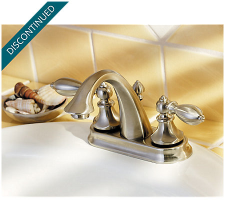 Brushed Nickel Catalina Centerset Bath Faucet - T48-E0BK - 7