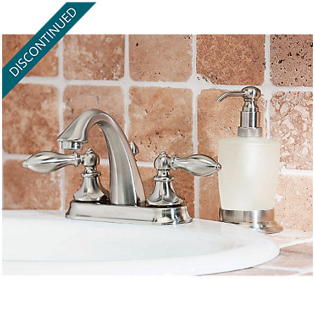 Brushed Nickel Catalina Centerset Bath Faucet - T48-E0BK - 8