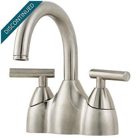 Brushed Nickel Contempra Centerset Bath Faucet - T48-NK00 - 1