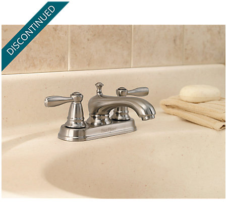 Brushed Nickel Portland Centerset Bath Faucet - T48-PK00 - 2