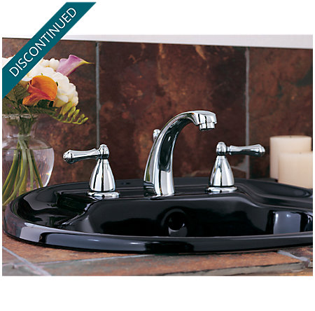 Polished Chrome Parisa Widespread Bath Faucet - T49-A0XC - 3