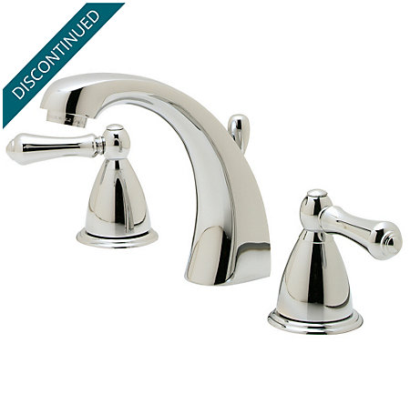 Polished Chrome Parisa Widespread Bath Faucet - T49-A0XC - 1