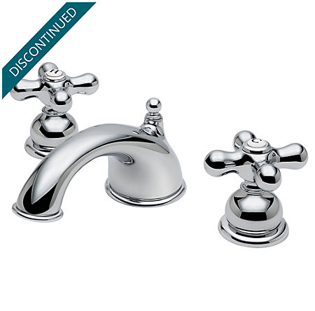 Polished Chrome Georgetown Widespread Bath Faucet - T49-B0XC - 1