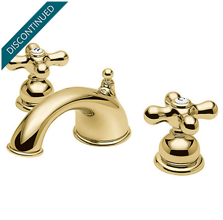 Polished Brass Georgetown Widespread Bath Faucet - T49-B0XP - 2