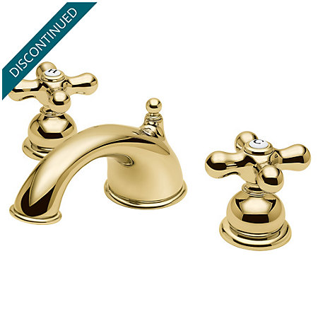 Polished Brass Georgetown Widespread Bath Faucet - T49-B0XP - 1
