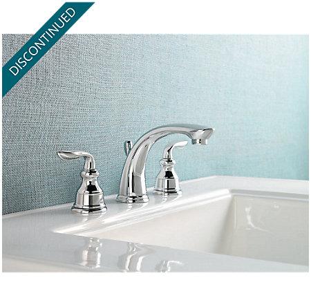 Polished Chrome Avalon Widespread Bath Faucet - T49-CB0C - 2