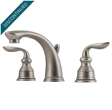 Rustic Pewter Avalon Widespread Bath Faucet - T49-CB0E - 1