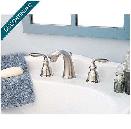 Brushed Nickel Avalon Widespread Bath Faucet - T49-CB0K - 4