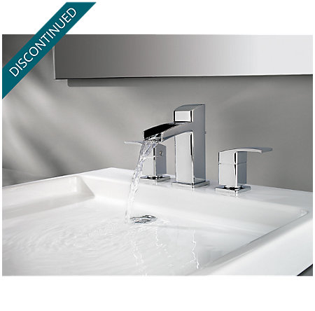 Polished Chrome Kenzo Widespread Bath Faucet - T49-DF0C - 4