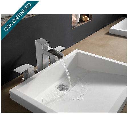 Brushed Nickel Kenzo Widespread Bath Faucet - T49-DF0K - 2