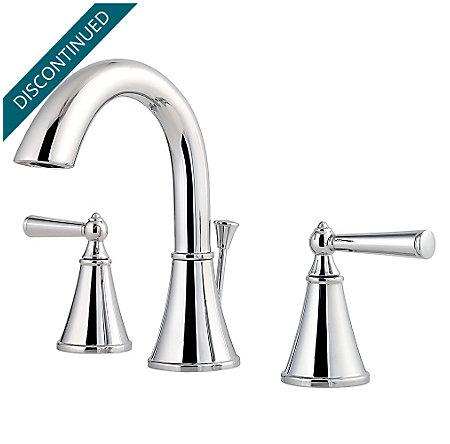 Polished Chrome Saxton Widespread Bath Faucet - T49-GL0C - 1