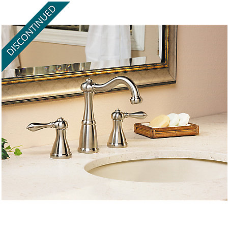 Brushed Nickel Marielle Widespread Bath Faucet - T49-M0BK - 2