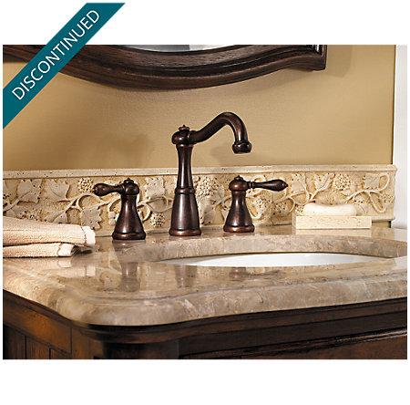 Rustic Bronze Marielle Widespread Bath Faucet - T49-M0BU - 2