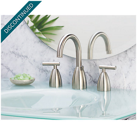 Brushed Nickel Contempra Widespread Bath Faucet - T49-NK00 - 2