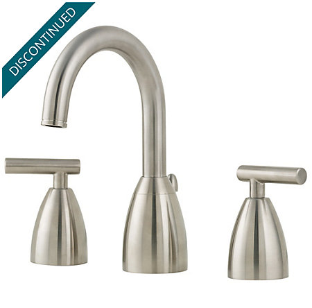 Brushed Nickel Contempra Widespread Bath Faucet - T49-NK00 - 1