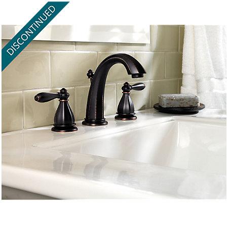 Tuscan Bronze Portola Widespread Bath Faucet - T49-RP0Y - 2