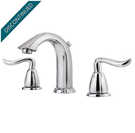Polished Chrome Santiago Widespread Bath Faucet - T49-ST0C - 1