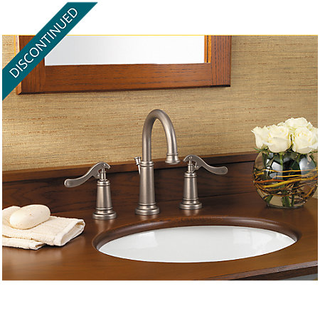 Rustic Pewter Ashfield Widespread Bath Faucet - T49-YP0E - 2
