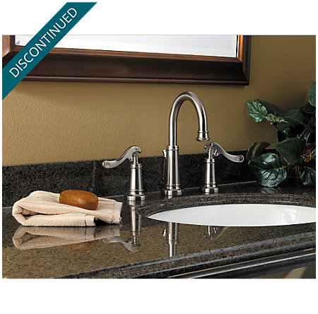 Brushed Nickel Ashfield Widespread Bath Faucet - T49-YP0K - 2