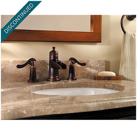 Rustic Bronze Ashfield Widespread Bath Faucet - T49-YP1U - 2